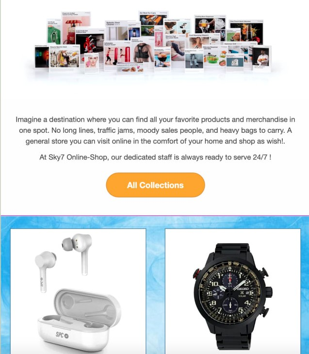 email marketing new products-announcement